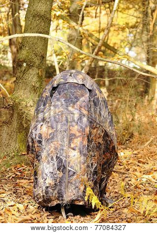 Camouflage Chair To Photograph Wildlife