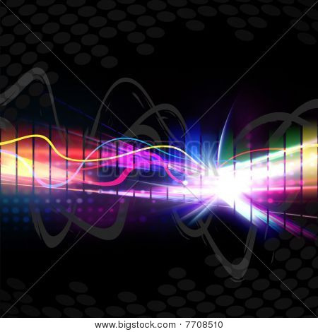 Forma de onda Musical de arco iris