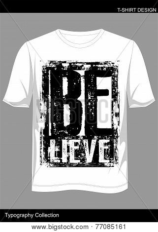 T Shirt Believe.eps