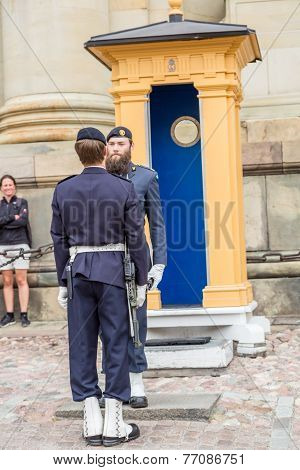 Royal Guards In Stockholm