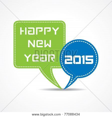 creative New Year 2015 design with message bubble concept stock vector