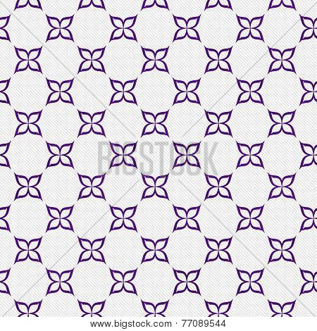 Purple And White Flower Repeat Pattern Background