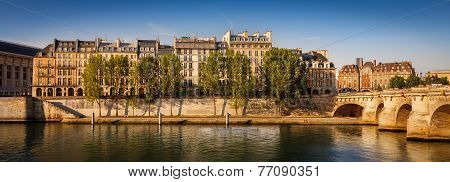 Peaceful Summer Morning Along The River Seine, Paris