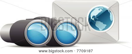 Binocular and mail