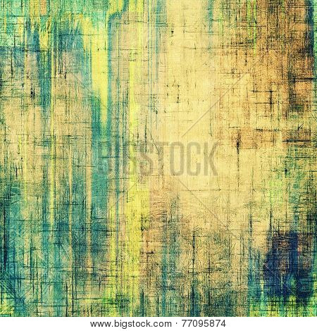 Grunge, vintage old background. With different color patterns: gray; blue; green; brown; yellow