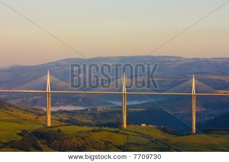 Millau Viaduct in Aveyron Département in France