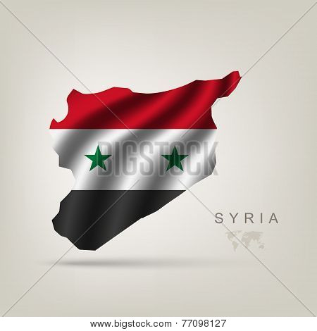 Flag Of Syria As A Country