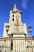 image of palace  - The Popes Palace in Avignon UNESCO World Heritage Site Popes Palace square - JPG