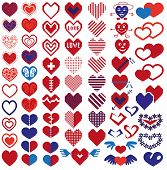 stock photo of broken heart flower  - Image icons in heart shape on white background - JPG