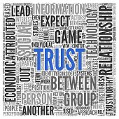 picture of trustworthiness  - Text cloud background depicting  - JPG