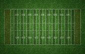 American Football Field On Grass poster