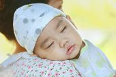 foto of sweet dreams  - sweet dreams Asian babe sleeping on his mother - JPG