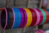 stock photo of bangles  - Traditional Indian bangles - JPG