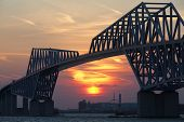 ������, ������: Tokyo bay and Tokyo gate bridge