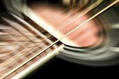 pic of vibrator  - acoustic guitar motion blur of vibrating strings - JPG