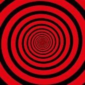 stock photo of hypnotizing  - Red black hypnotizing spiral - JPG