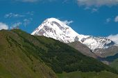 picture of trinity  - Mount Kazbek is one the highest peak in the Caucasus Mountains - JPG