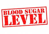 pic of diabetes symptoms  - BLOOD SUGAR LEVEL red Rubber Stamp over a white background - JPG