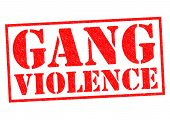 image of gang  - GANG VIOLENCE red Rubber Stamp over a white background - JPG