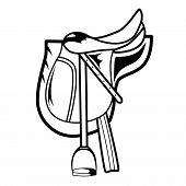 pic of saddle-horse  - Vector illustration  - JPG