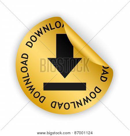 Vector Download Bent Sticker