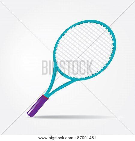 vector sport equipment. tennis racket.