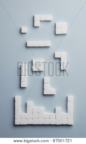Testris Game Made Of Sugar Cubes