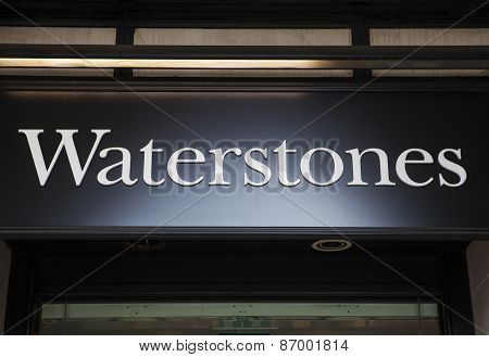 Waterstones Book Store Sign