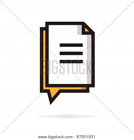 Document vector logo