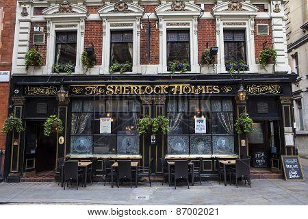 Sherlock Holmes Public House In London