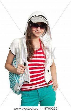 Stylish Happy Teen Girl