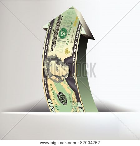 Money Arrow Background