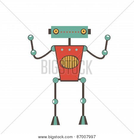 Colorful robot character
