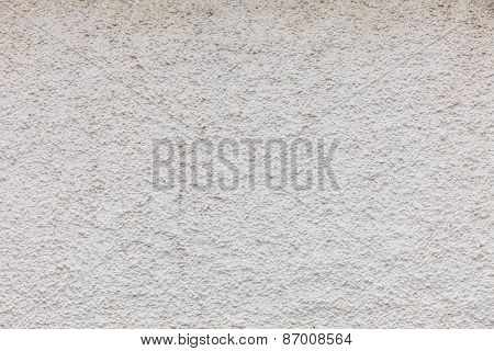 White Concrete Wall As Background Or Texture.