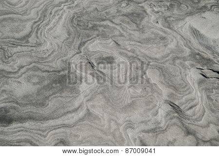 Black And White Sand Swirls