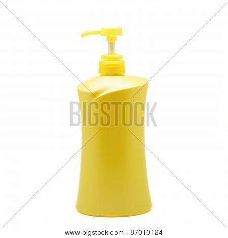 Yellow Plastic Pump Bottle