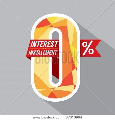 Zero Percent Interest Installment.