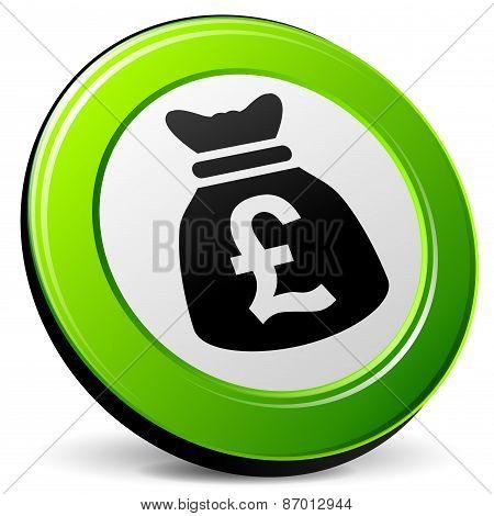 Pound 3D Icon