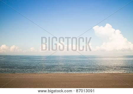 Beach and blue sky