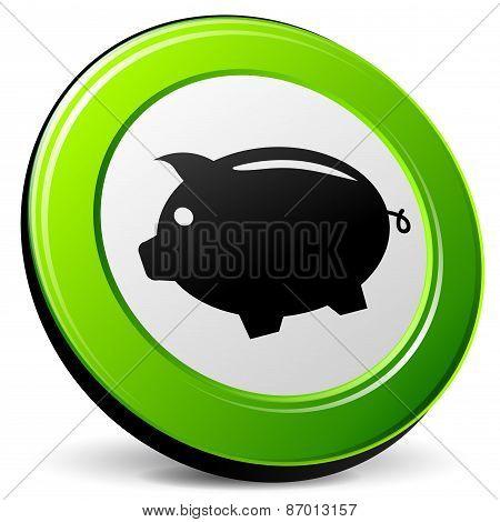Piggybank 3D Icon