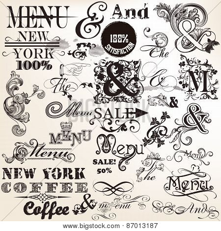 Collection Of Vector And The And Menu In Antique Style