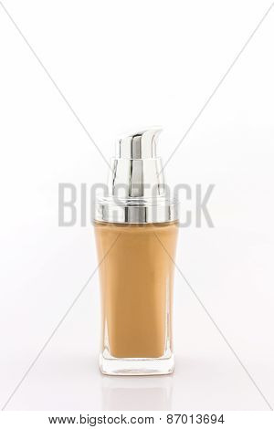 Beige Make Up Foundation In Luxurious Bottle.