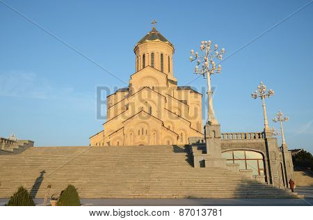 Holy Trinity Cathedral of Tbilisi - the main cathedral of the Georgian Orthodox Church