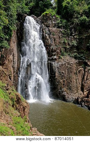 Heo Narok (Hew Narok) Waterfall at Khao Yai National Park in Nakhon Ratchasima Province, Thailand