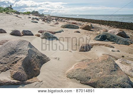 Stones On The Shore Of  Baltic Sea