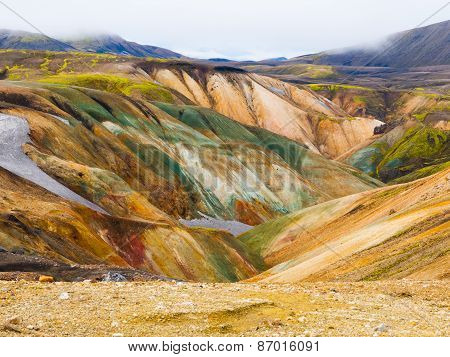 Landmannalaugar colorful rainbow mountains