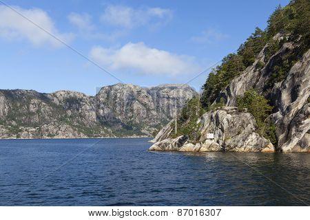 Landscape near Lysefjord. Norway.