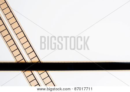 35 Mm Movie Film Stripes On White Background
