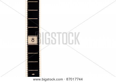Number Eight Countdown Movie Filmstrip Vertical And Copyspace