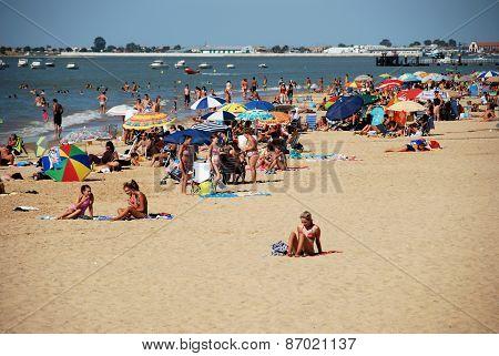 Busy beach, Sanlucar de Barrameda.